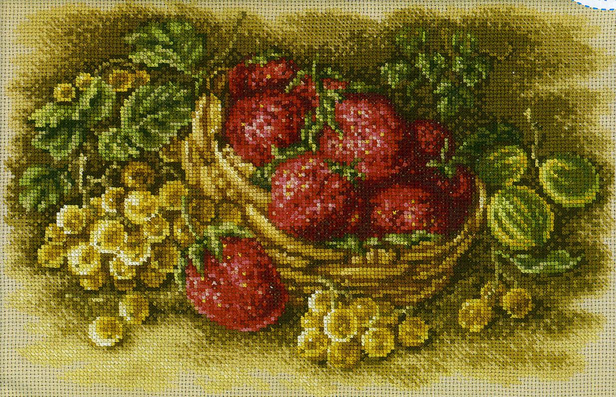 Вышивка фрукты ягоды 69