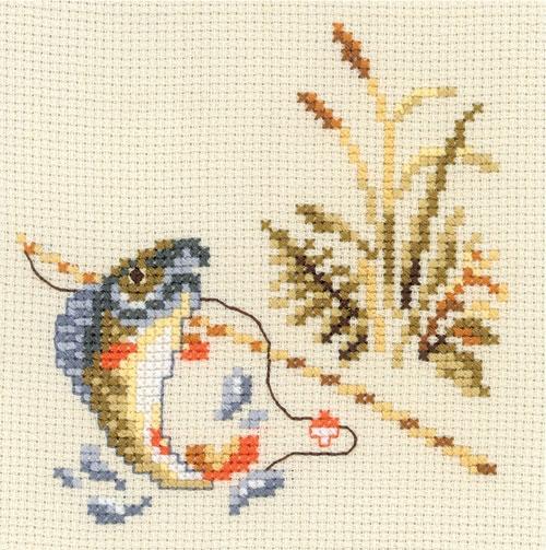 Охота и рыбалка схема вышивки